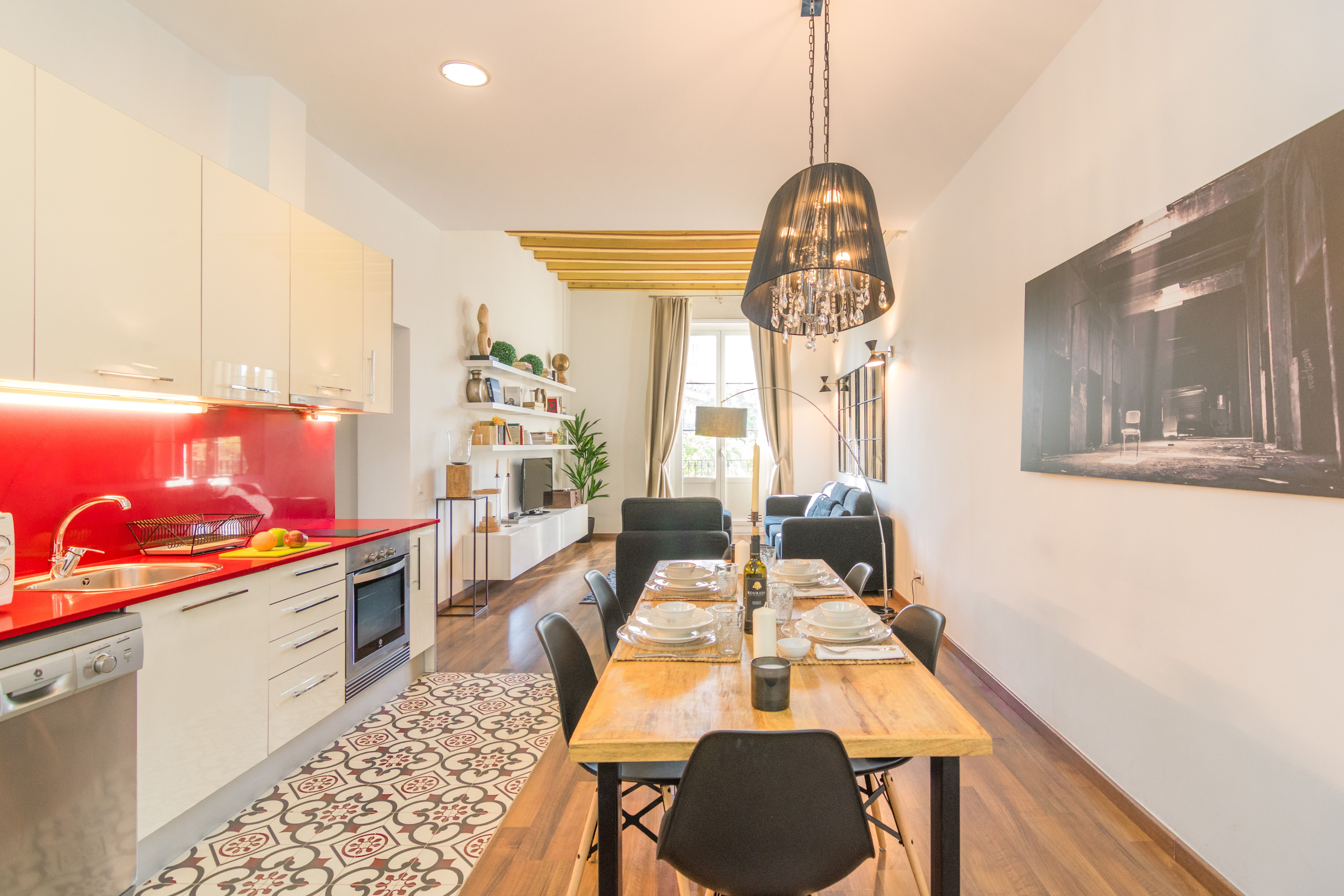 11. Cocina Comedor - Kitchen and Dining room.jpg | 1840 Apartments
