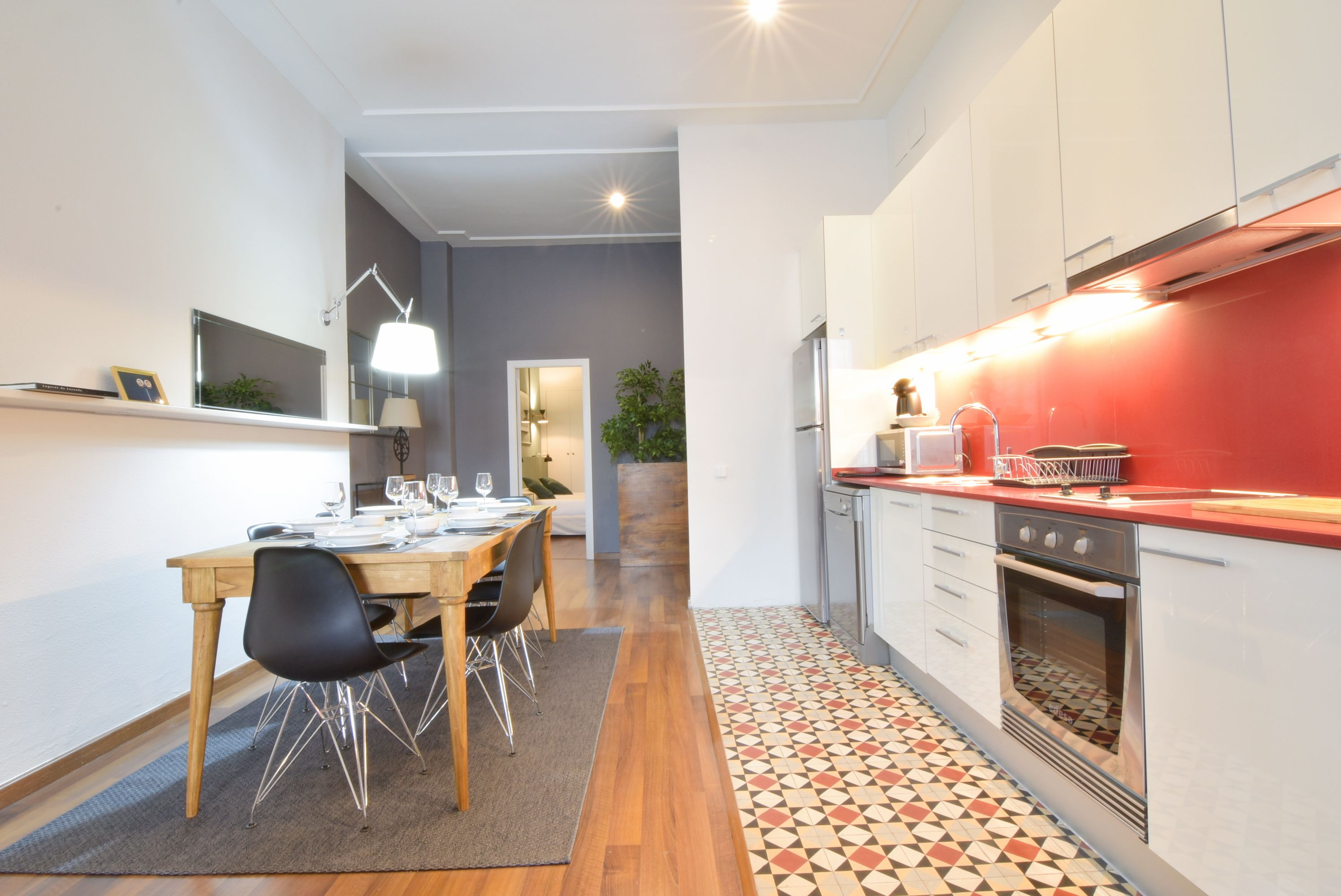 2. Cocina Comedor - Kitchen and Dining room | 1840 Apartments